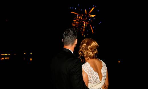 Fajerwerki jako najbardziej zapamiętywana przez gości atrakcja weselna
